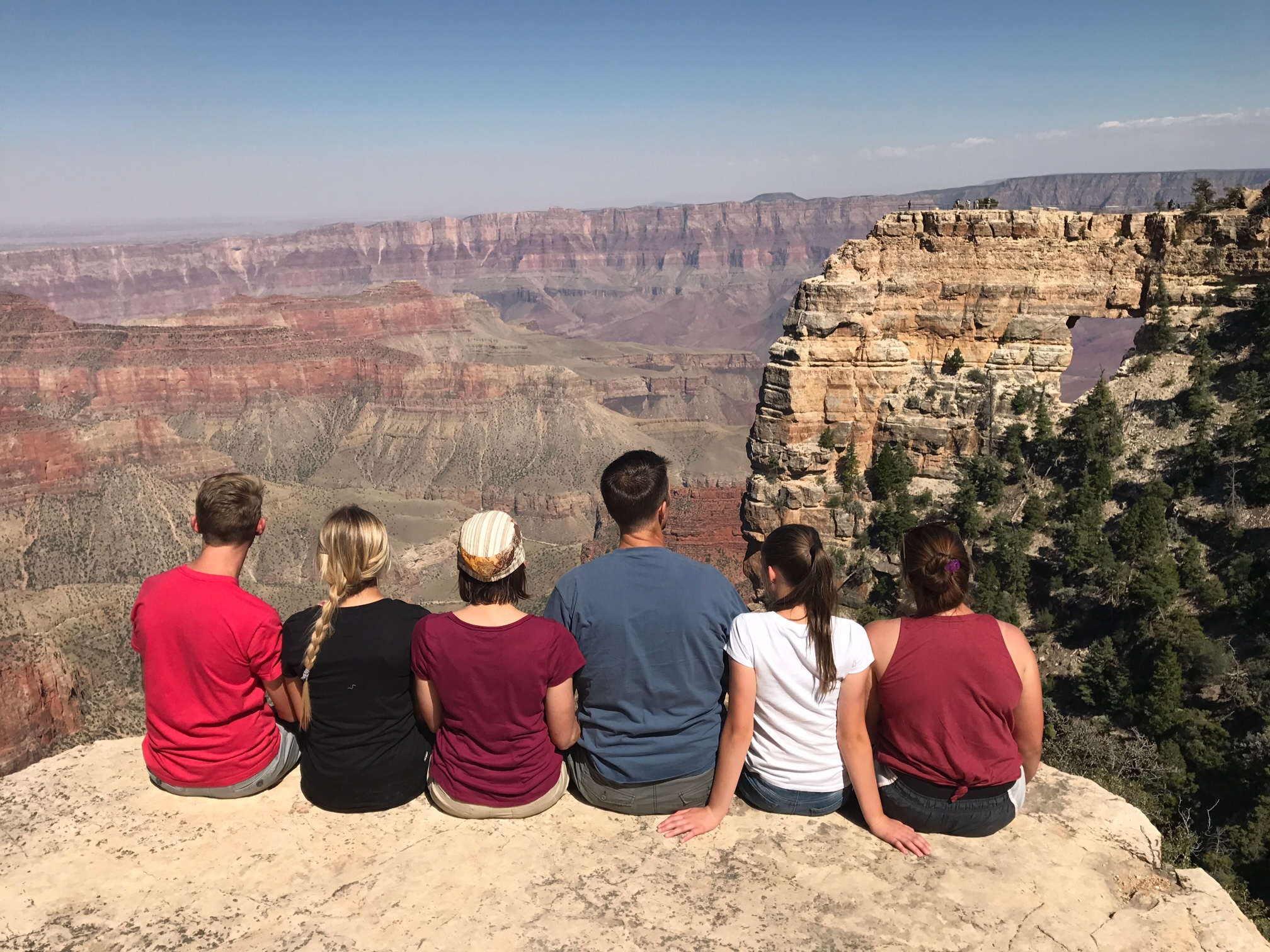 Family at the grand canyon